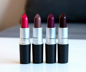 black, brown, and lipstick image