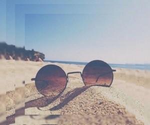 beach and sun image