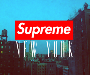 city, new york, and supreme image