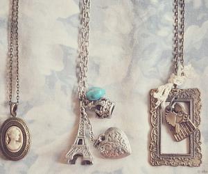 necklace, paris, and vintage image