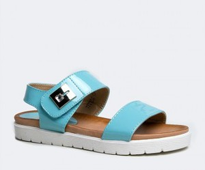 light blue, patent, and sandals image