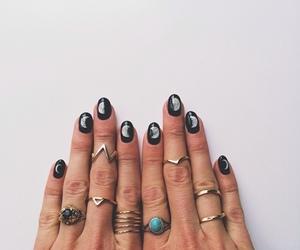 nails, moon, and rings image