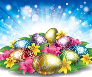 colourfull, easter, and eggs image
