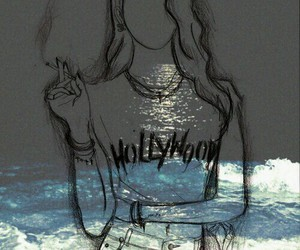 cigarette, drawing, and grunge image