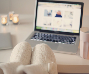 laptop and ugg image