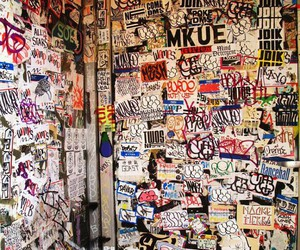 graffiti, stickers, and room image