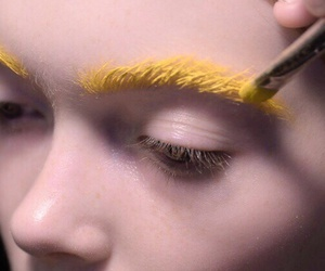 makeup, yellow, and art image