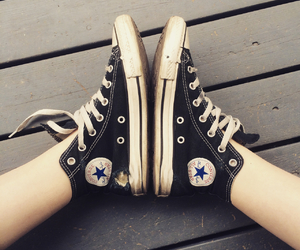 black, chuck taylor, and converse image