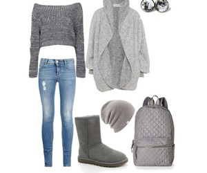 backpack, boots, and casual image