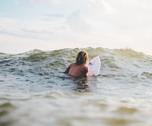 surf, sea, and boy image