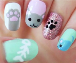 funny, nails, and cute image