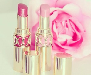 pink, lipstick, and rose image
