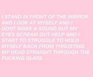 sad, pink, and poem image