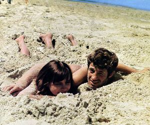 anna karina, beach, and couple image