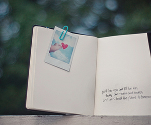 book, text, and heart image