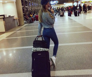 airport, beauty, and clothes image