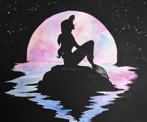 art, mermaid, and arielle image