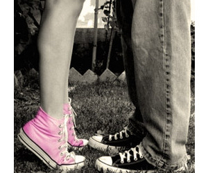 love, kiss, and converse image