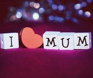 love, mum, and heart image