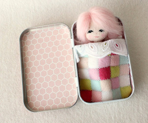 craft, doll, and girl image
