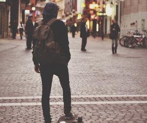 boy, city, and skate image