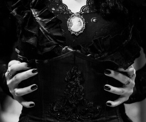 black and white, goth, and varnuak image