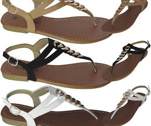 flat, gladiator, and sandals image