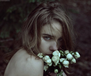 blond, model, and flower image