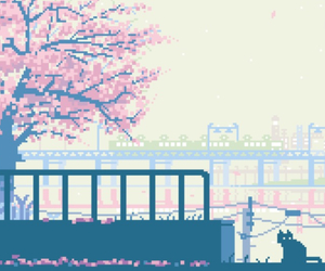 pixel, gif, and pink image