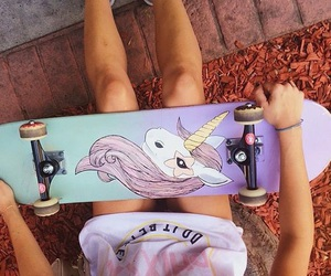 adventure, girl, and unicorn image