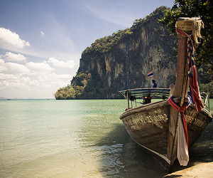 boat, view, and thailand image