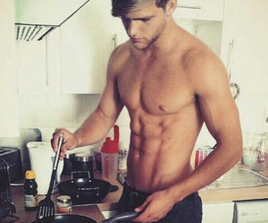 boy, cooking, and boyfriend image