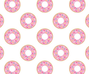 background, donuts, and patterns image