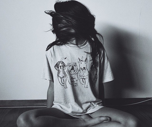 black & white, photography, and hair image