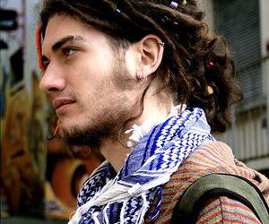dreads, guy, and hippie image