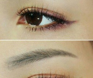 eye makeup, eyes, and korean makeup image