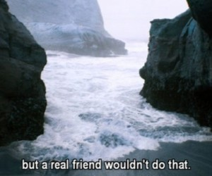 quote, friends, and sad image