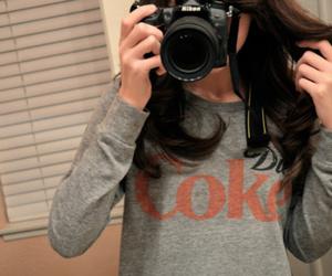 photography, girl, and coke image