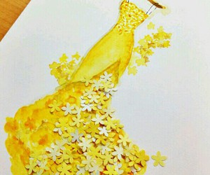 flowers, fashion, and yellow image