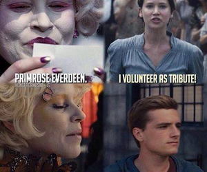 the hunger games, tribute, and katniss image
