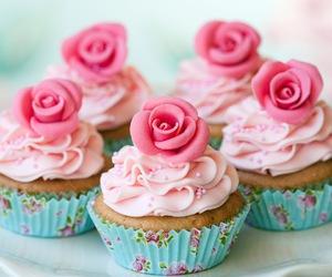 cupcake, pink, and rose image
