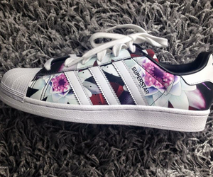 adidas, flowers, and sneakers image