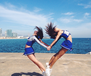 cheerleader and friends image