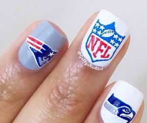 nails, superbowl, and NFL image