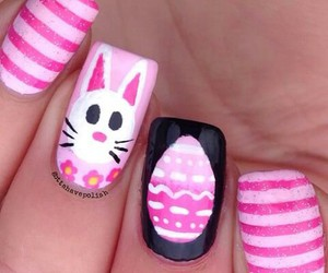 easter, easter egg, and nail image