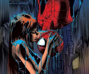 spiderman, kiss, and Marvel image