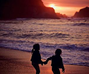 cute and sunset image