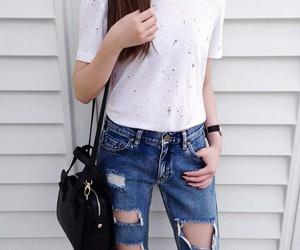 fashion, bag, and denim image