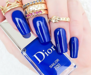 dior, nails, and blue image