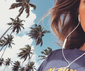 girl, summer, and music image